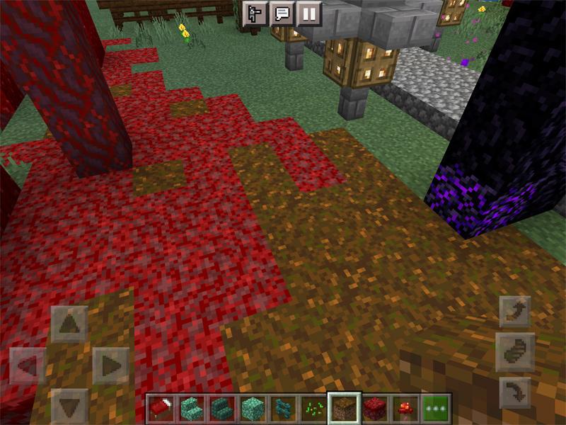 マインクラフトで紅葉が美しい神社を建築