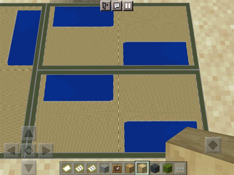 マインクラフトの地図で畳を作る