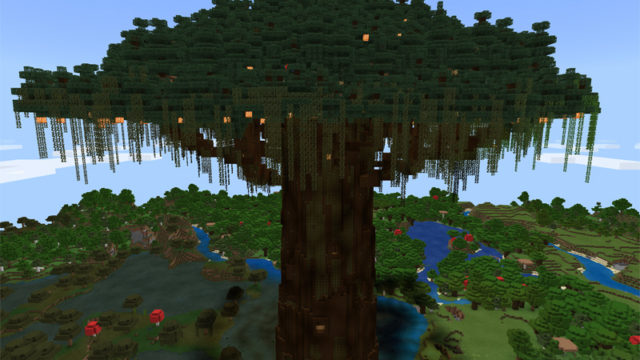マインクラフトで世界樹を作る3