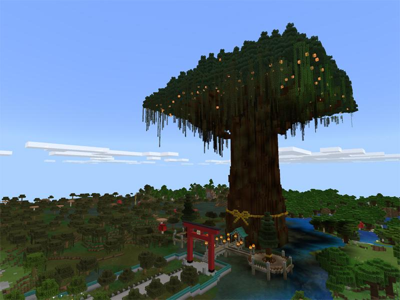 マインクラフトで御神木を作る