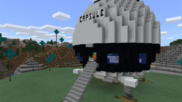 マイクラでカプセル宇宙船を建築