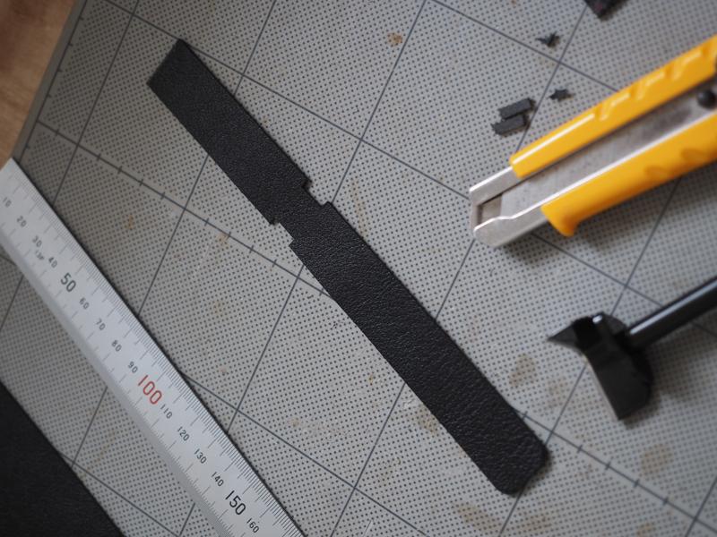 オニヤンマ型レザーキーホルダーの製作工程
