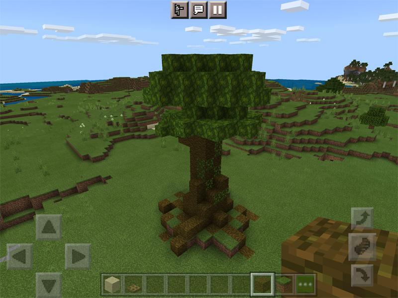 マイクラで世界樹のジオラマを作る